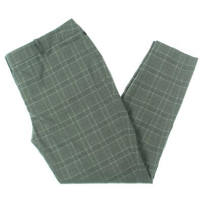Calvin Klein Womens Gray Plaid Ankle Dress Pants Trousers Plus 14W BHFO 6607