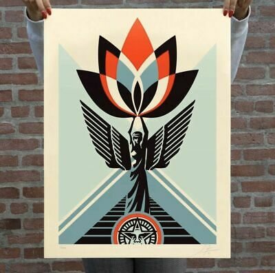 Shepard Fairey Obey Giant | Lotus Angel | Signed and Numbered #/500 Poster Print