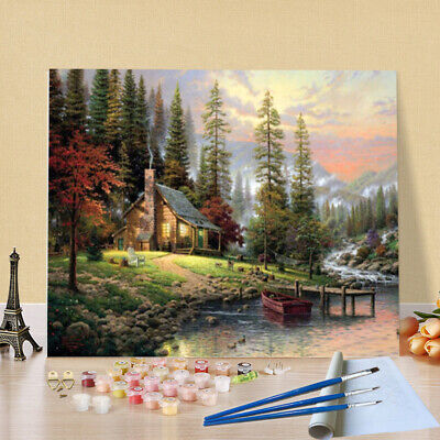40X50CM Oil Painting By Numbers Kit Craft DIY Paint On Canvas Frameless Scenery
