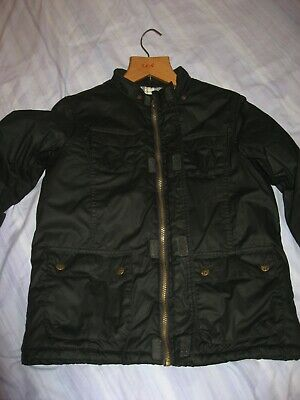 IMMACULATE Boys Marks & Spencer M&S black coat Age 11-12 yrs.