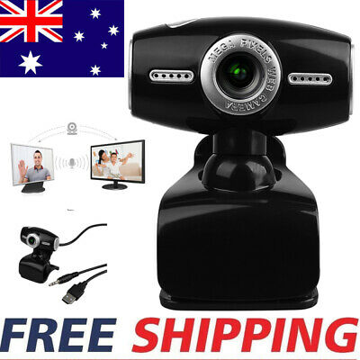 USB HD Web Camera Webcam 360° Online Course Microphone For Computer PC Windows