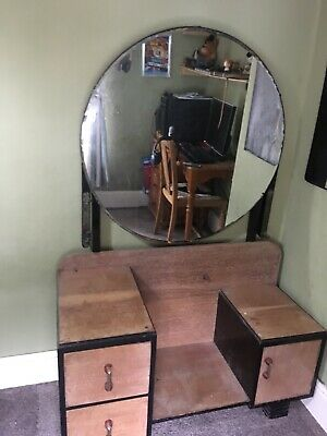 Beautiful Art Deco Furniture Set - Dressing Table, Matching Stool & Tall Boy