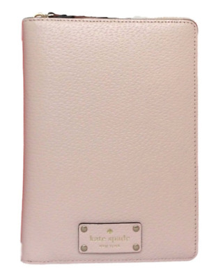 New Kate Spade  Wellesley Zip Around Organizer Planner Ballet Pink