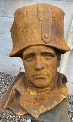 Large French Cast Iron Bust of Napoleon Bonaparte - Heavy - 40cm x 33cm