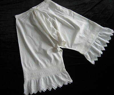 Fabulous Antique Closed Crotch Bloomers Pantaloons Pintucked & Broderie Anglaise