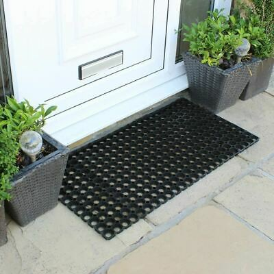 Heavy Duty Large Rubber Hollow Indoor Outdoor Rubber Mat Home Office 50 X 100 Cm