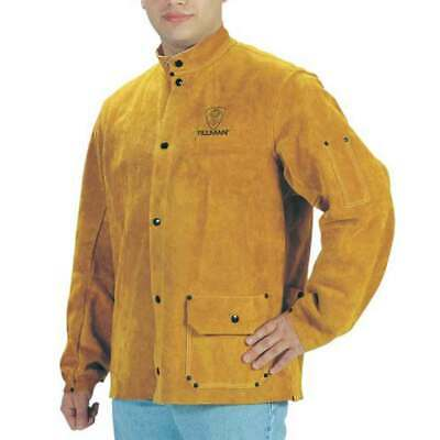 "Tillman 3285 36"" Brown Premium Side Split Cowhide Welding Jacket Large"
