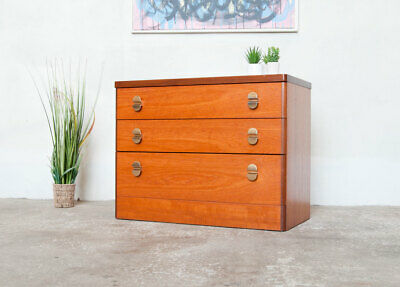 A Teak Chest 3 Drawers By Stag Cantata Range Mid Century Delivery Option