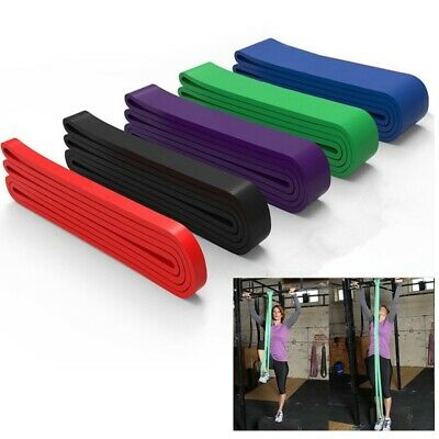 Exercise Band Set Latex Resistance Elastic Band Pull Up Assist Bands Fitness GYM