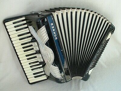 HOHNER VERDi II ViNTAGE GERMANY PiANO AKKORDEON 96 BASS ACCORDiO BLACK Аккордеон