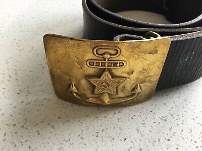Soviet Russian Military Soldier NAVY Belt USSR