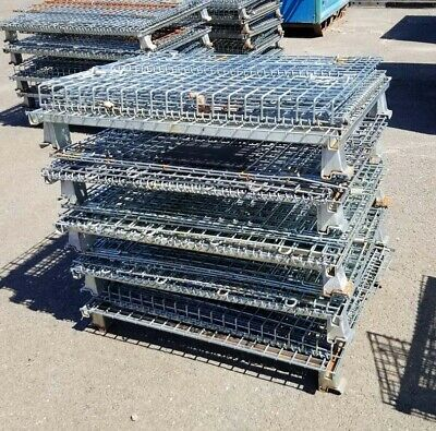 Used Wire Basket Stackable 32 X 40 X 33H,( Inv. 40496)