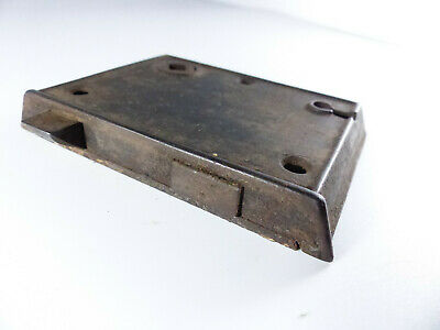 ANTIQUE CAST IRON BEVELED EDGE RIM DOOR LOCK 1800s