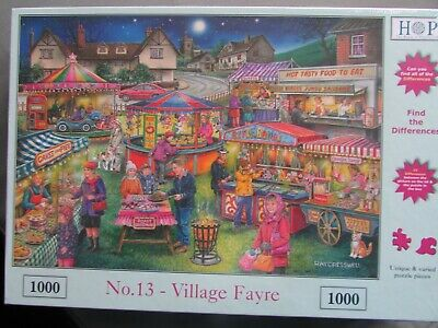 New Still Sealed Hop 1000 Piece Puzzle 'Village Fayre;