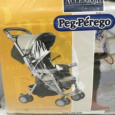 Peg Perego Stroller Rain Cover Accessory for Aria Transparent Keep Baby Dry