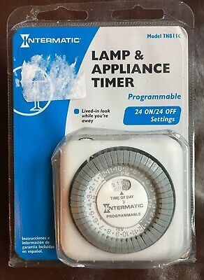 Intermatic Lamp/Appliance Timer #TN811C, Easy-Set Dial, 24 On/Off Settings NEW