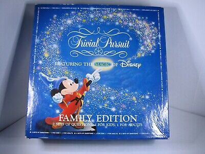 Trivial Pursuit Disney Family Edition - 1986 Master Game - Complete