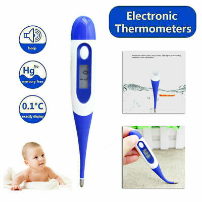 LCD Thermometer Medical Adult Baby Body Safe Soft Electronic Thermometer