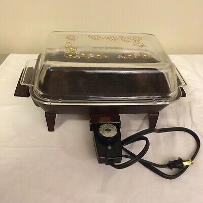 Vtg Sunbeam Pan For All Reasons Electric Cooker Tested Works Free Shipping!