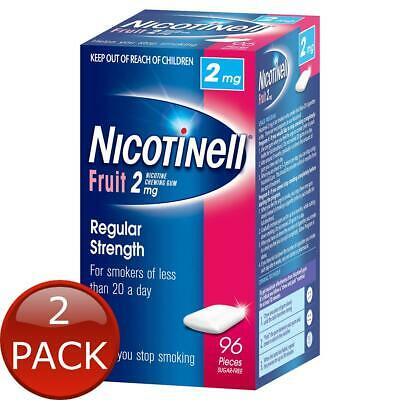 2 x NICOTINELL GUM 2MG FRUIT - 96 PACK