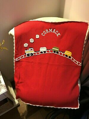 Personalised Powell Craft Train blanket