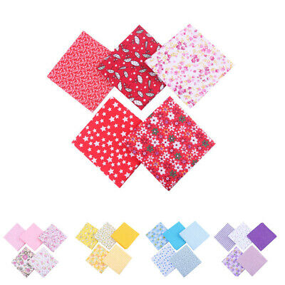 5Pcs DIY 50*50cm Mixed Pattern Cotton Fabric Sewing Quilting Patchwork Crafts B