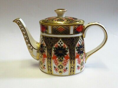 "ROYAL CROWN DERBY OLD IMARI  3""  small teapot"