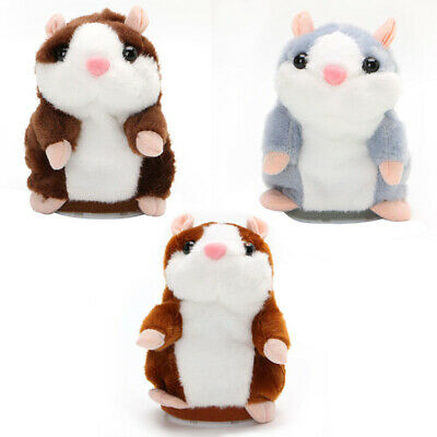 Cheeky Talking Hamster Plush Toy Mouse Pet Sound Records Speech for baby Gift US