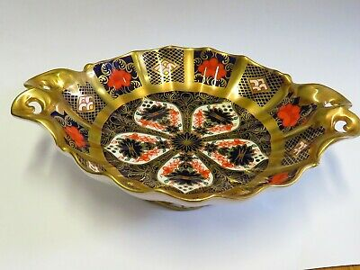 ROYAL CROWN DERBY OLD IMARI  small footed dish