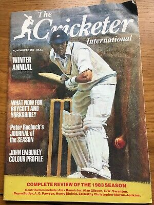 Cricketer International Winter Annual - November 1983 Boycott