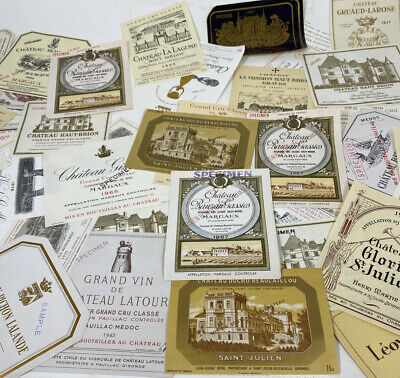Vintage French Wine Labels Assorted Lot 50 Arts Crafts Decoupage Repurpose    E