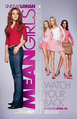 Mean Girls  movie poster  - 11 x 17 inches - Lindsay Lohan