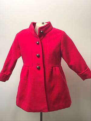 Girls Mother Care Pink Button Fastening Coat Jacket Kids Age 18-24 Months
