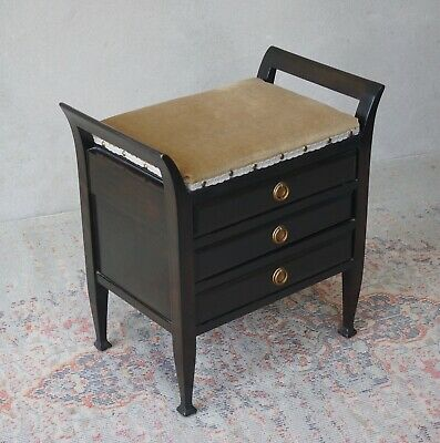 Antique Piano Stool Music Drawers - Delivery Available