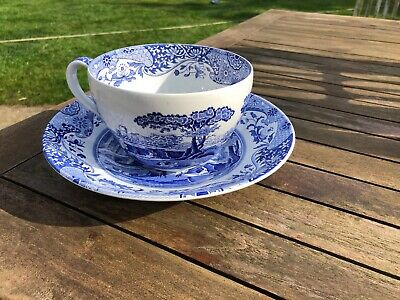 Spode Blue Room Collection Italian First Introduced Large Cup And Saucer