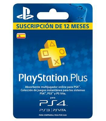 Playstation Psn Plus 12 Meses 365 Dias 1 Año Ps4-Psvita-Ps3