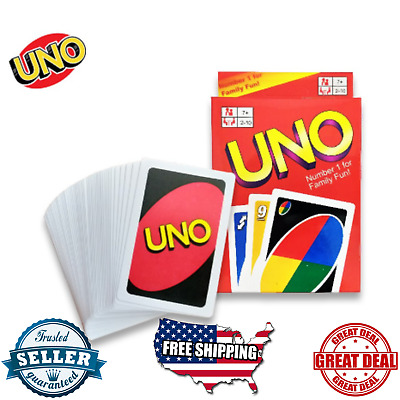UNO Card Game Classic Mattel 108 Cards Family Fun Playing Game For Youths & Kids