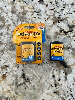 2 Kodak Advantix 400 25 Exposure Film Expired Advanced Photo System