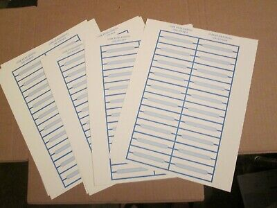 JUKEBOX LABELS blank title Strips (400) , WHITE WITH BLUE  BORDER