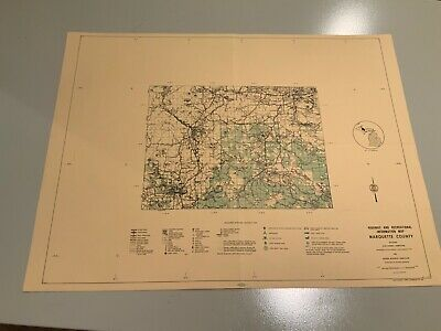 1974 Southwest Marquette County Michigan DNR Highway  Recreation Information Map