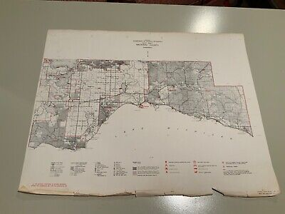 Vintage 1977 Mackinac County (West Part) Michigan DNR Map