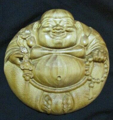 3D Carved  Wood Buddha Wall Art Hanging