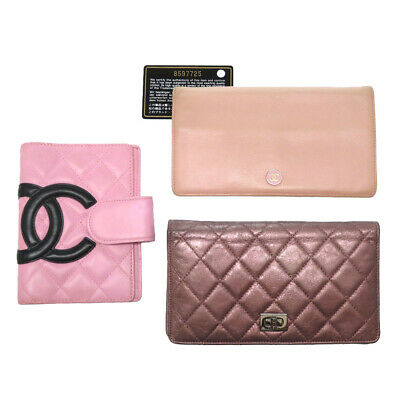 3item set CHANEL Long Wallet and Agenda 2.55 Cambon COCO Q1552IBL5