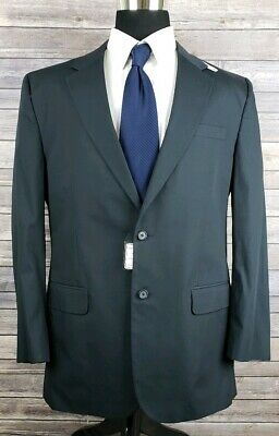 Jos A Bank Mens Two Button Navy Wool Suit Jacket Sport Coat Sz 44L NWT MSRP $350
