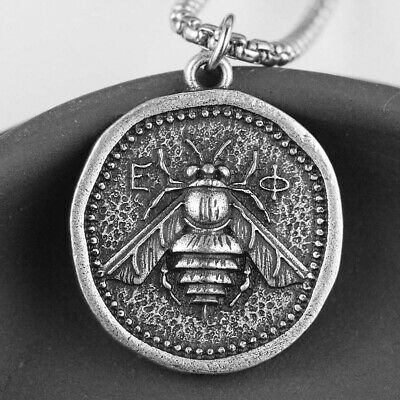 Medieval Bee Coin Pendant Sweetness Attract Me Diligence Bumblebee Gift For Mom
