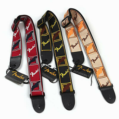 Embroidered Guitar Strap Fender Straps for Electric Acoustic Guitar Ukulele Bass