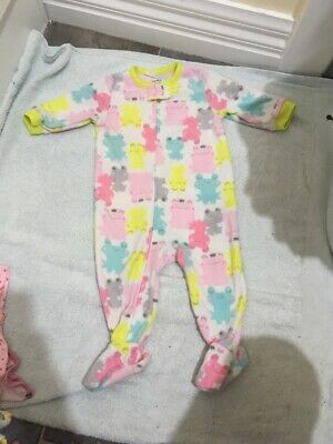 Baby Girls Zip Up  Long Sleeve Jumpsuit Size 6 Months EUC