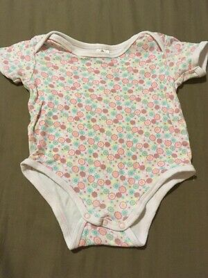 Baby Girls Short Sleeve Romper Size 00 GUC