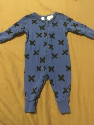 Baby Boys Long Sleeve Blue Zip Up Jumpsuit Size 000 EUC