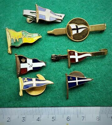 Collection (lot) of seven Yatching / Motor Boating penant enamel badges.